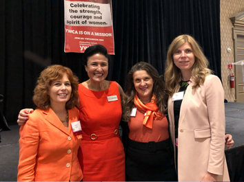 Photo of attorneys and Dorf & Nelson team at YWCA event
